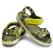 Crocs Crocband Seasonal Graphic Citrus Kids Sandal (хаки)