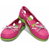 Crocs Women's Beach Line Boat Fuchsia/Volt green