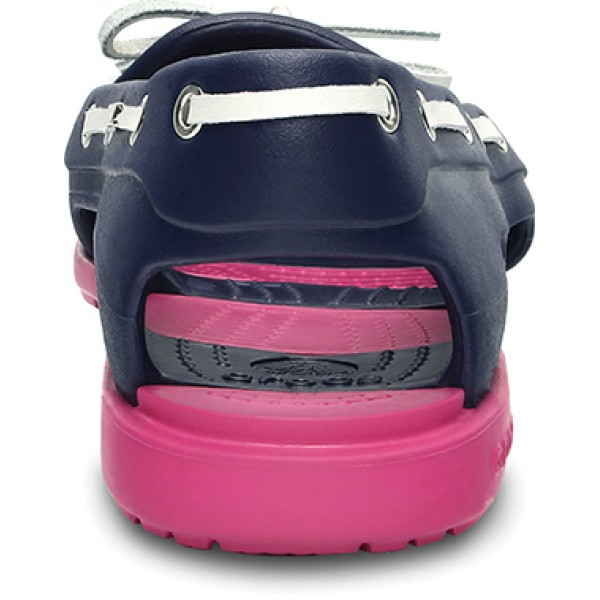 Crocs Women's Beach Line Boat Navy/Fuchsia