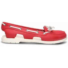 Crocs Women's Beach Line Boat Red/White