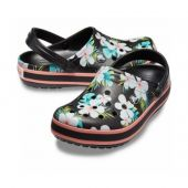 Crocs Classic Black & Floral Seasonal Graphic Clogs арт. 00226